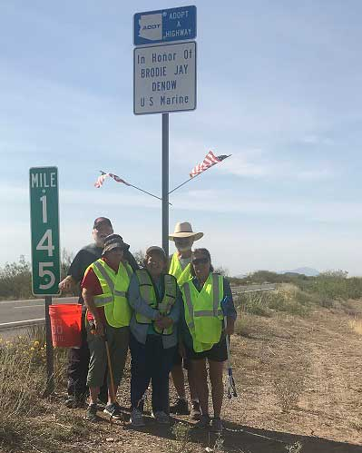 Adopt a Highway SR 79 Florence Brodie Denow memorial