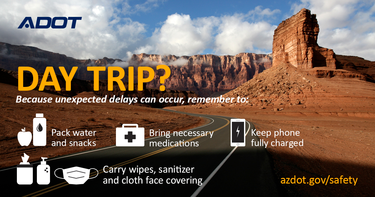 Summer driving emergency kit safety tips driver safety Arizona