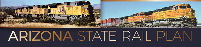 Arizona State Rail Plan Banner