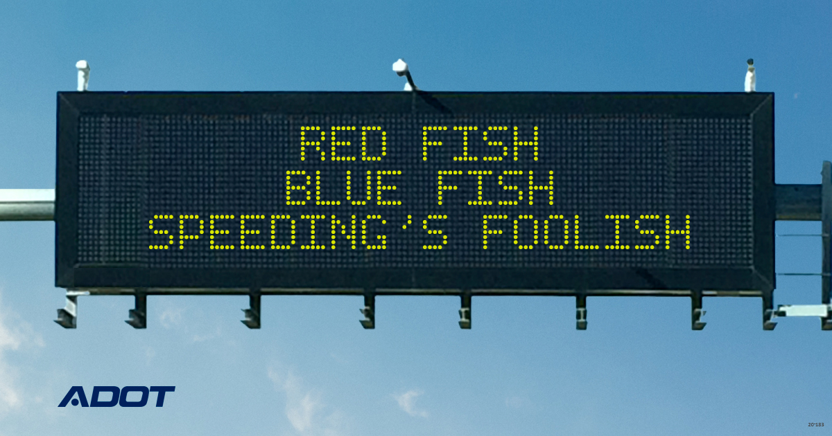 red fish blue fish speeding is foolish