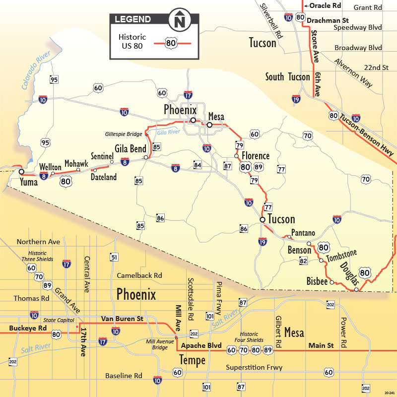US 80 route map