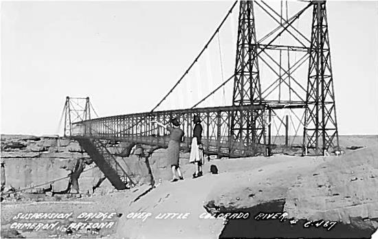 Post card of 1911 bridge provided by Director of Communications Tim Tait
