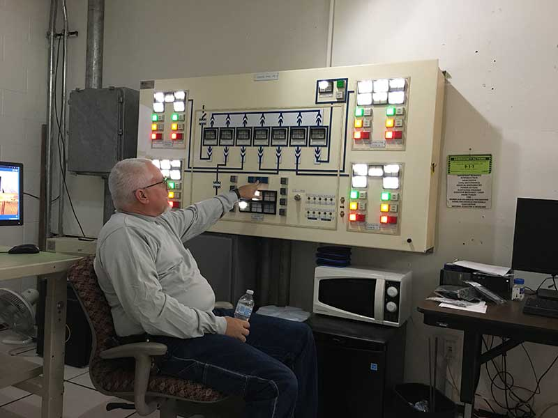 Deck Park Tunnel control room