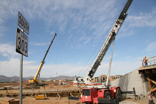 Construction work on Loop 303 expansion project