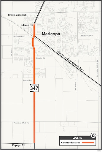 Map of SR 347 project work area