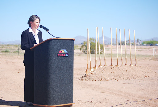 State Engineer Jennifer Toth speaks at SR 24 groundbreaking