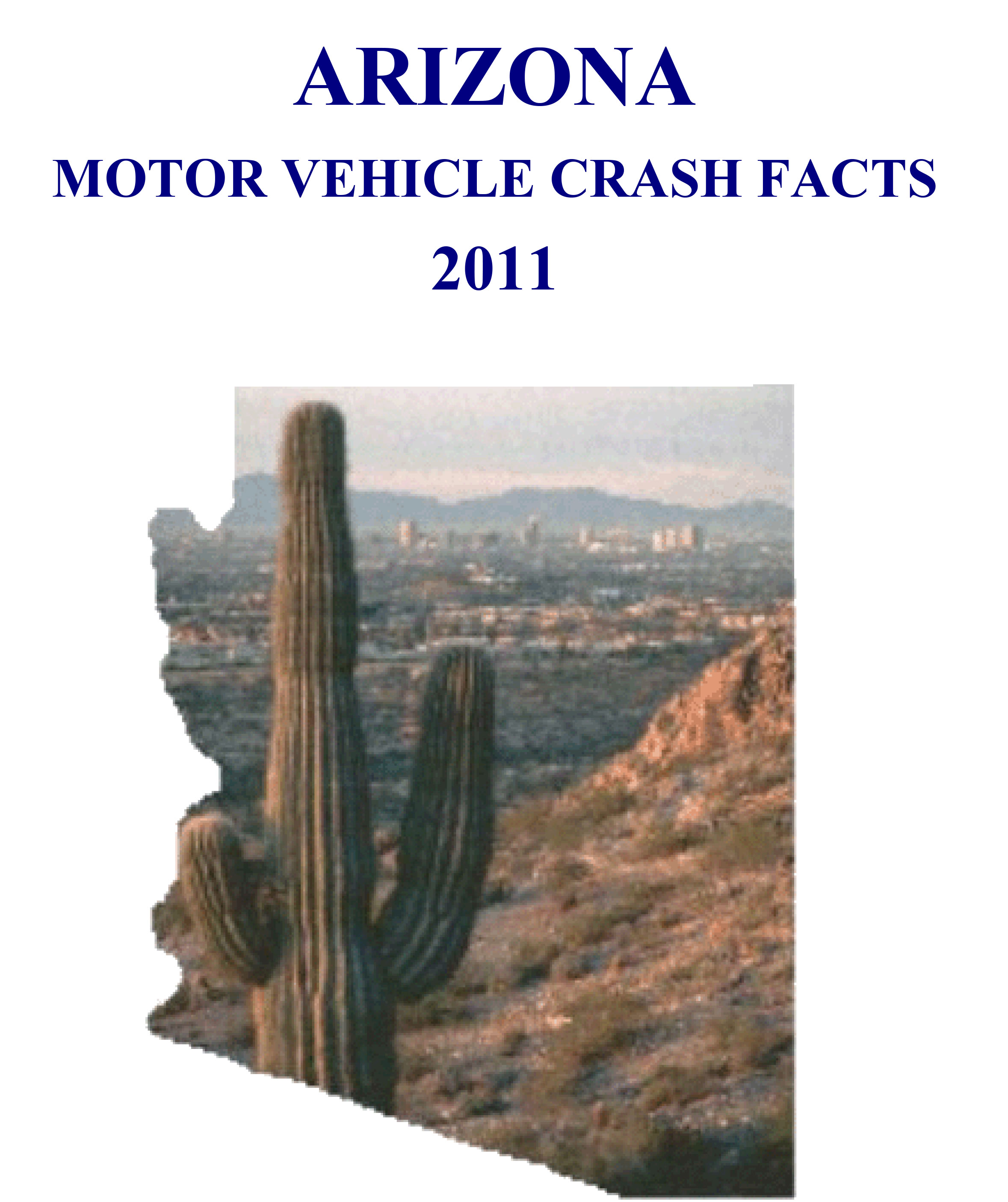 Cover of the 2011 Arizona Motor Vehicle Crash Facts Report