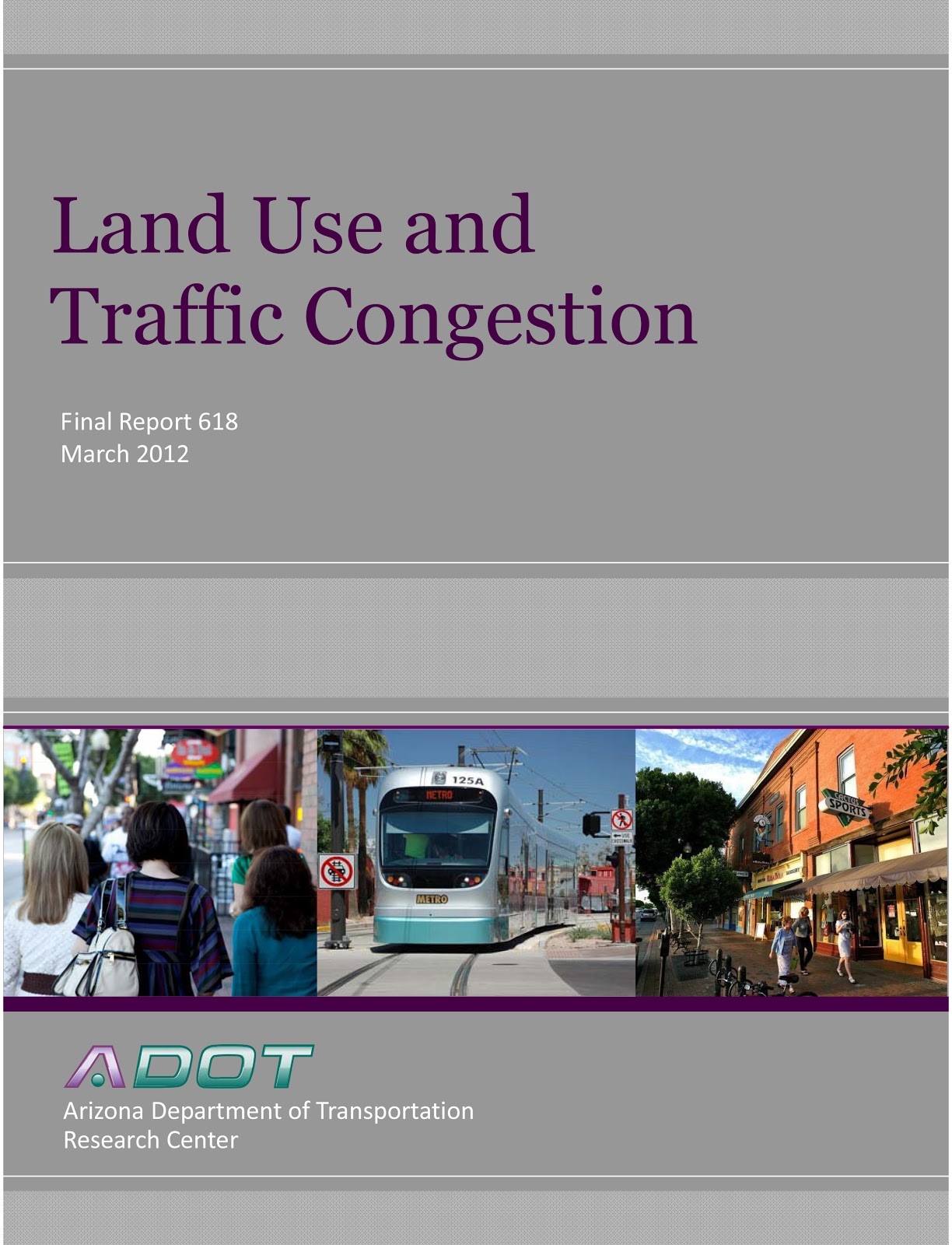 Land Use and Traffic Congestion Study Cover