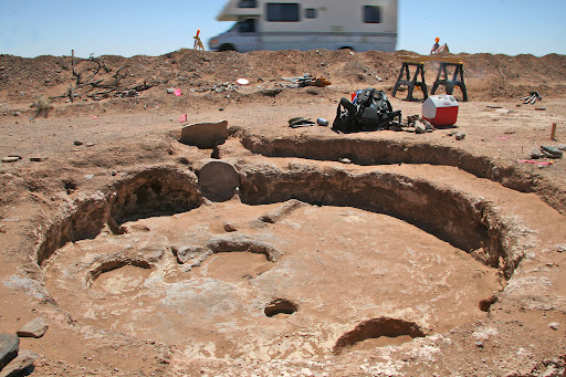 Circular recessed archaeological site near SR 77