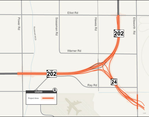 SR 24 project area map.