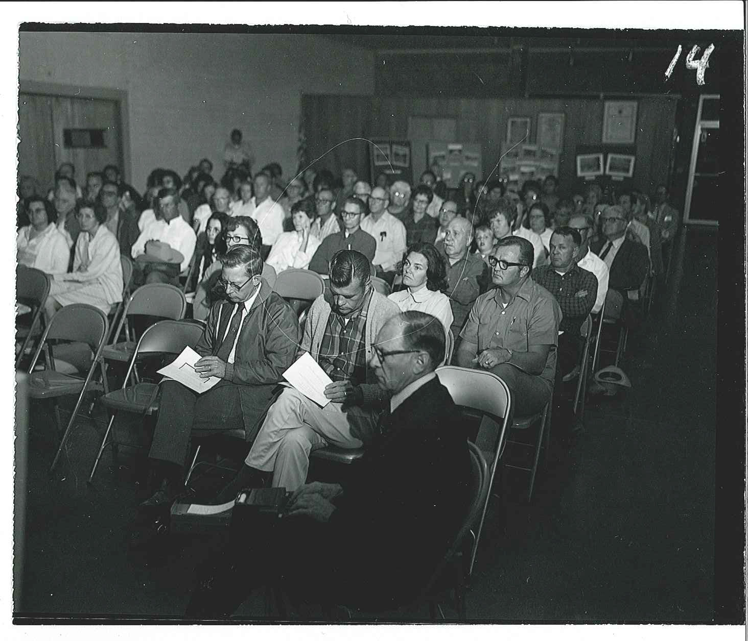 1972 public meeting audience