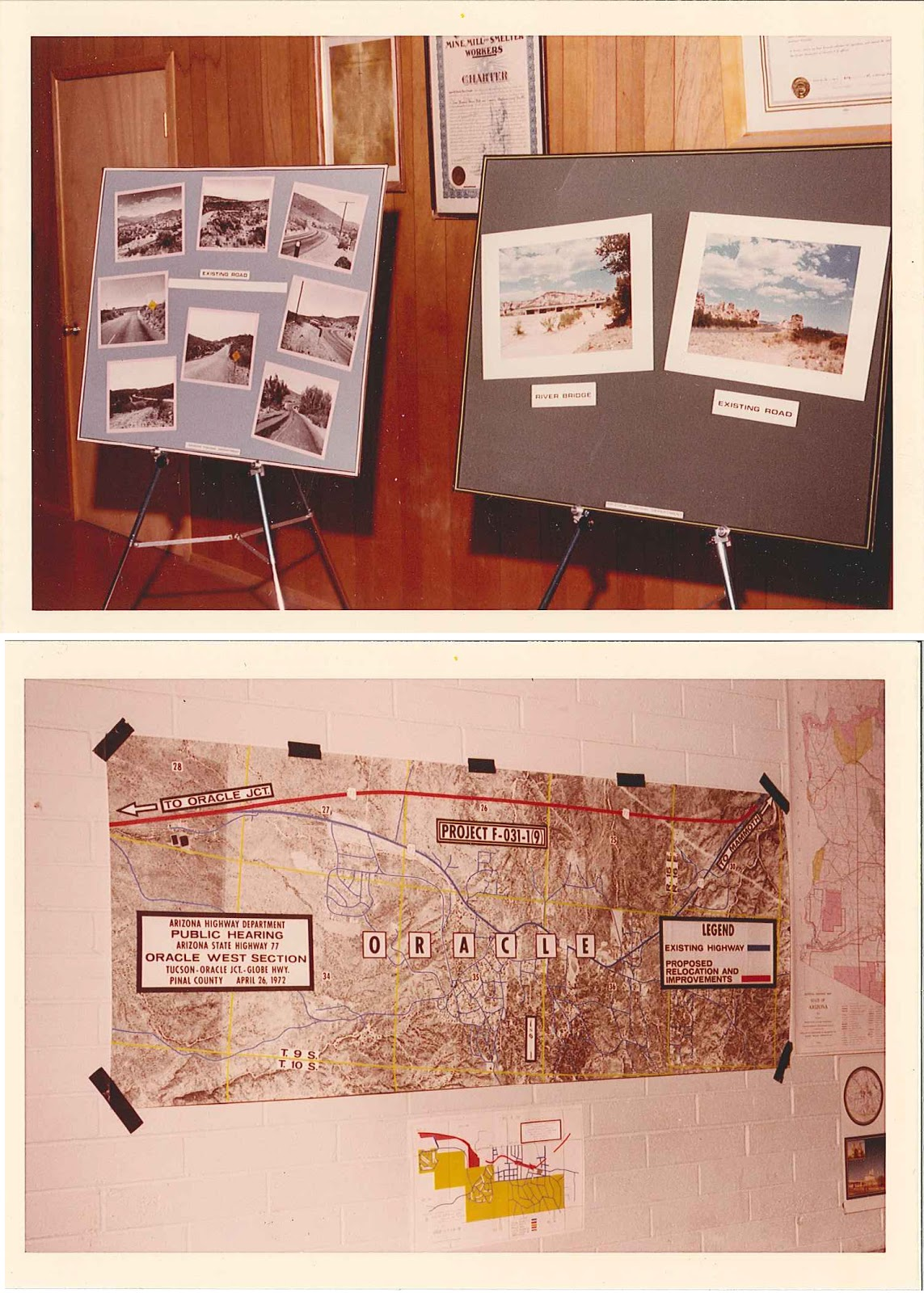Display boards from 1972 public meeting