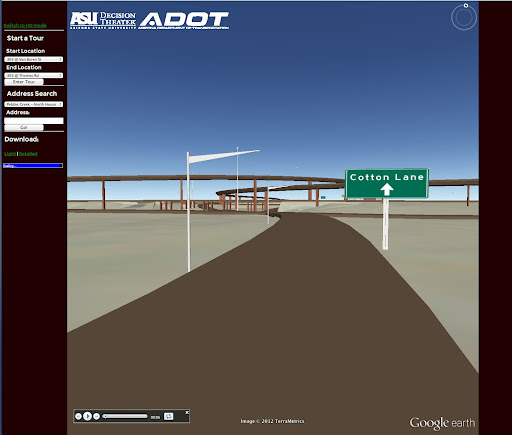 A screen shot from the Loop 303 virtual drive.