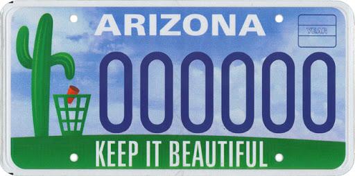 Keep Arizona Beautiful license plate