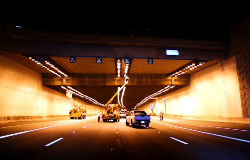 Crews work overnight to clean the I-10 Deck Park Tunnel.
