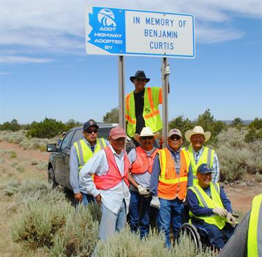 Members of the Curtis family during a recent cleanup event.