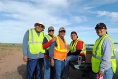 Members of the Curtis family marked their Adopt a Highway 20-year anniversary last month.