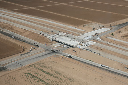 A recent aerial shot of the Loop 303 at Peoria Avenue.
