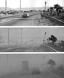 These photos were taken in 1979 during a dust storm in Phoenix.