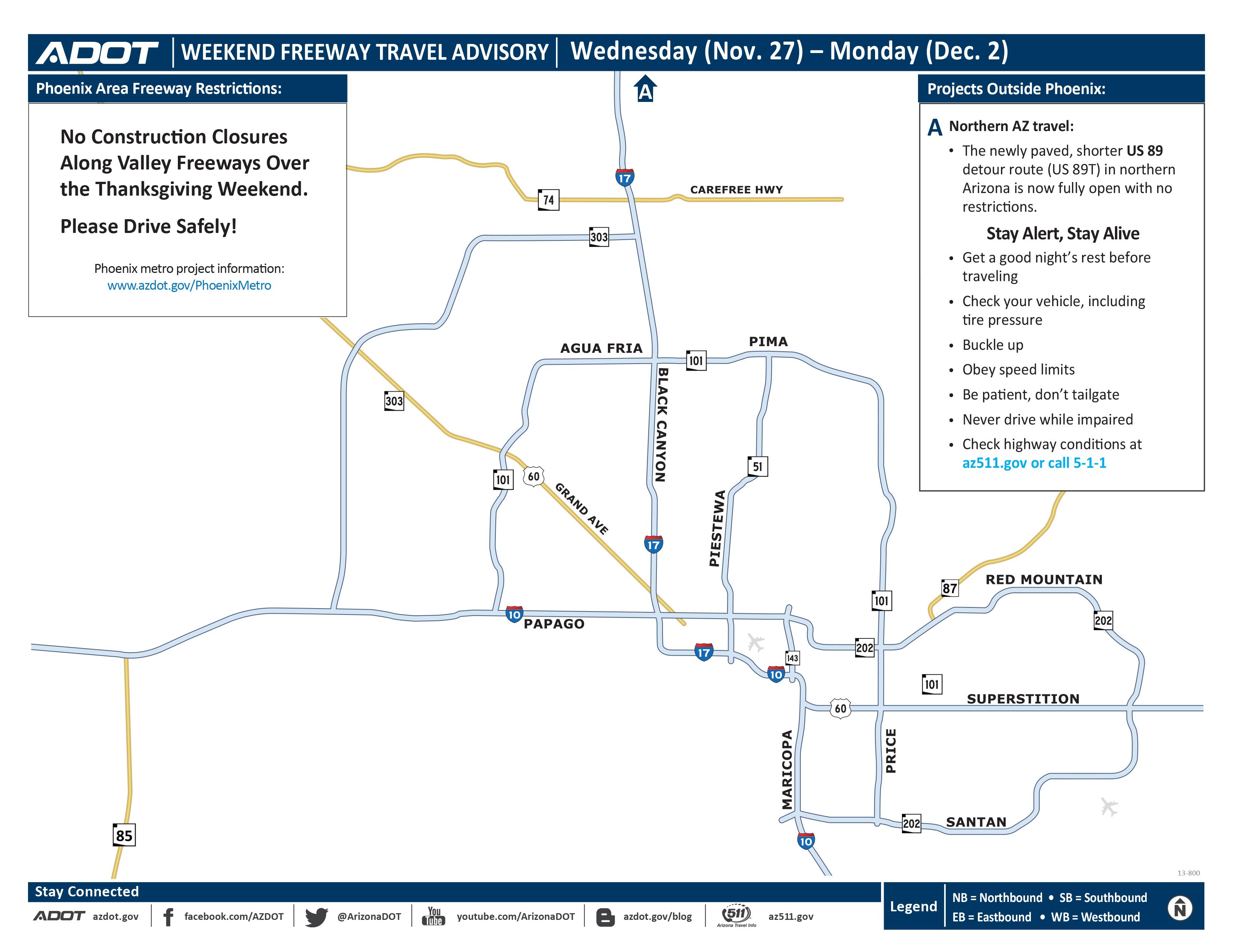 Holiday road closure map