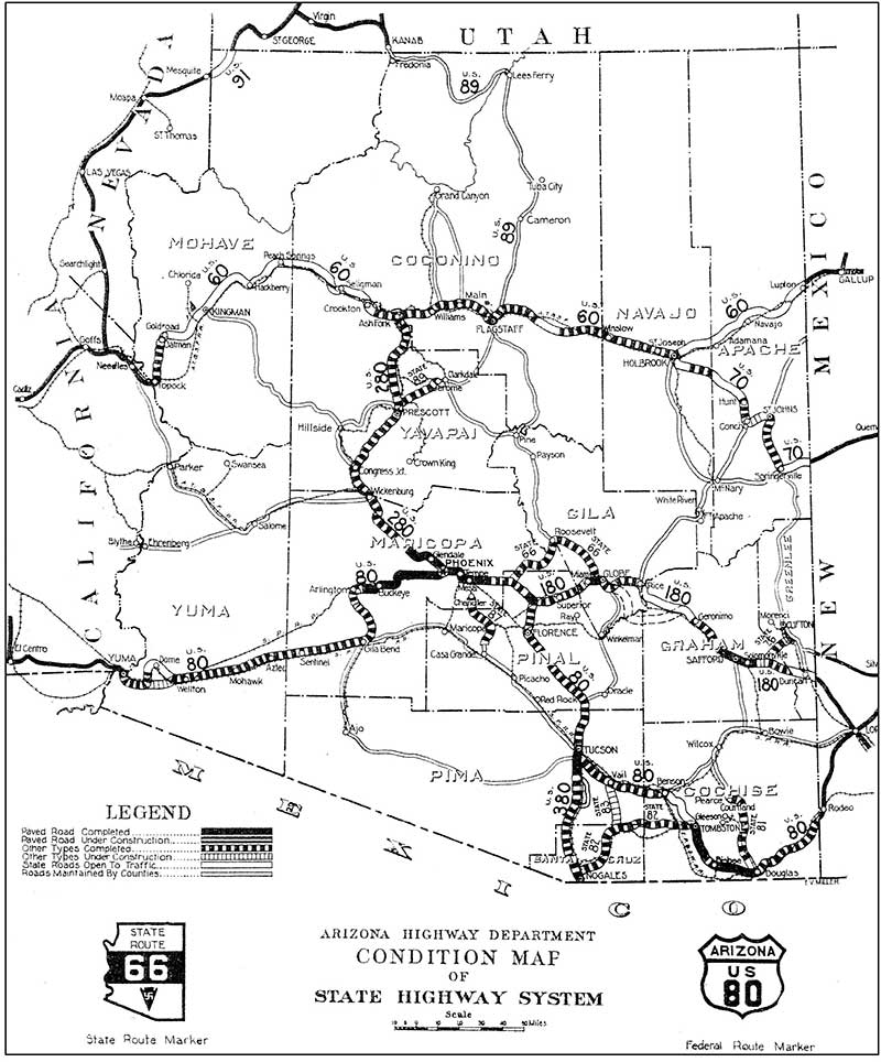 Historical Arizona Highway Map