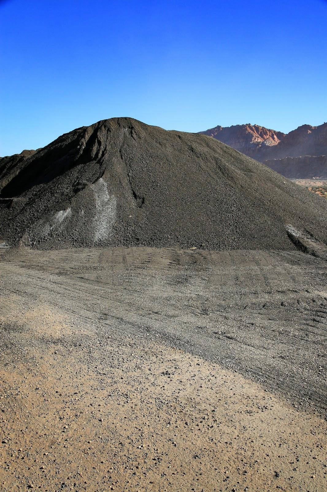 Mound of reclaimed asphalt pavement