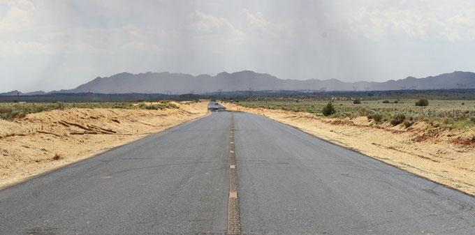 A center lane rumble strip.