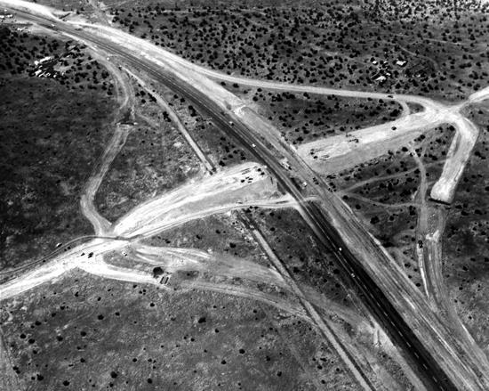 Archive aerial photo of I-19 and Helmet Peak