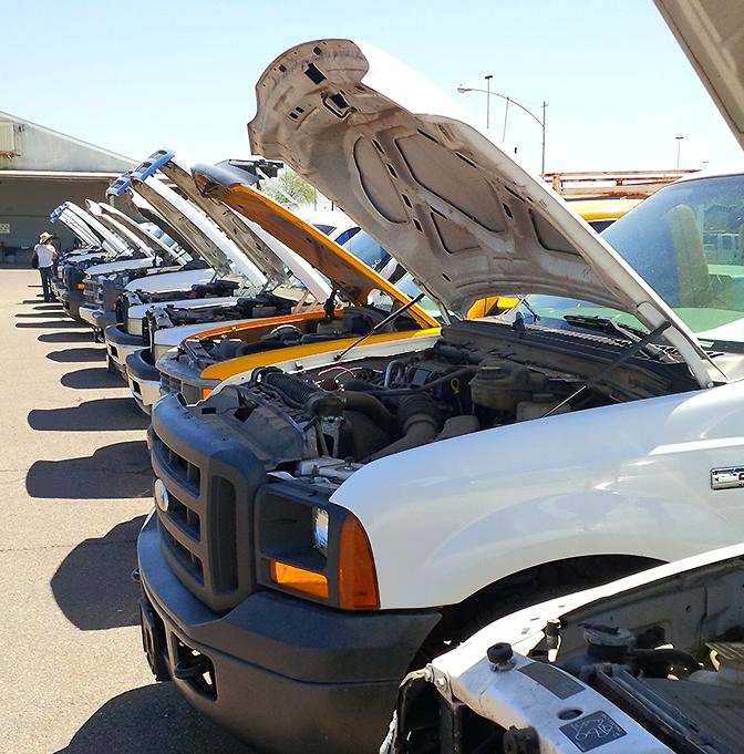Trucks for auction