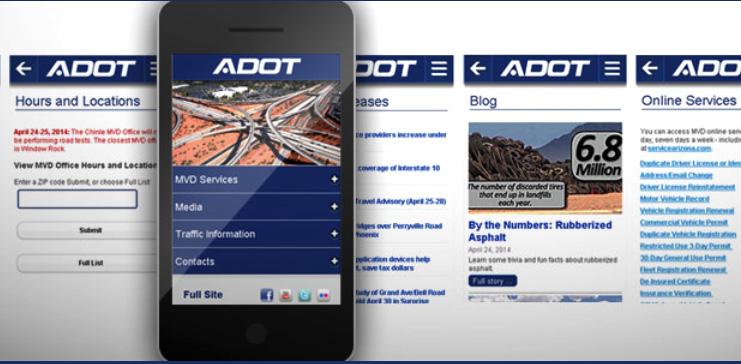 ADOT mobile website