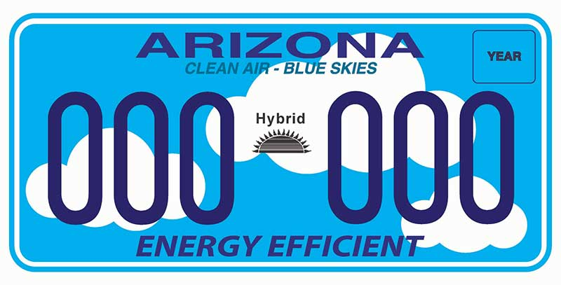 Energy efficient sample license plate
