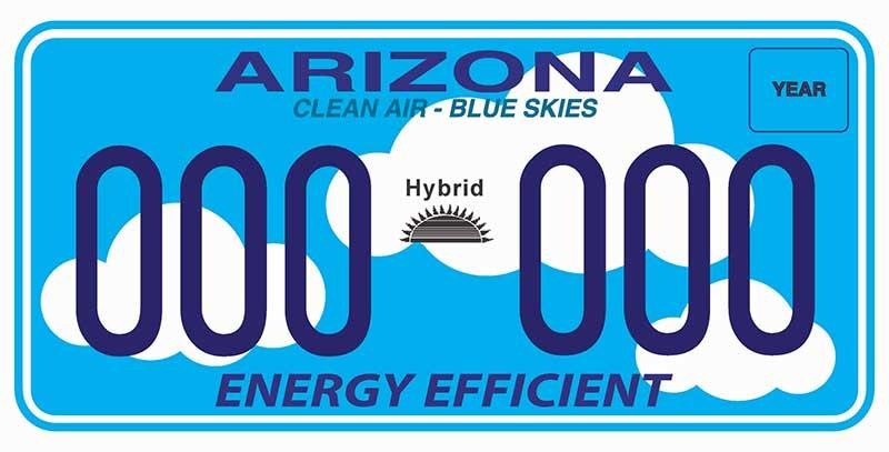 Energy efficient sample license plate