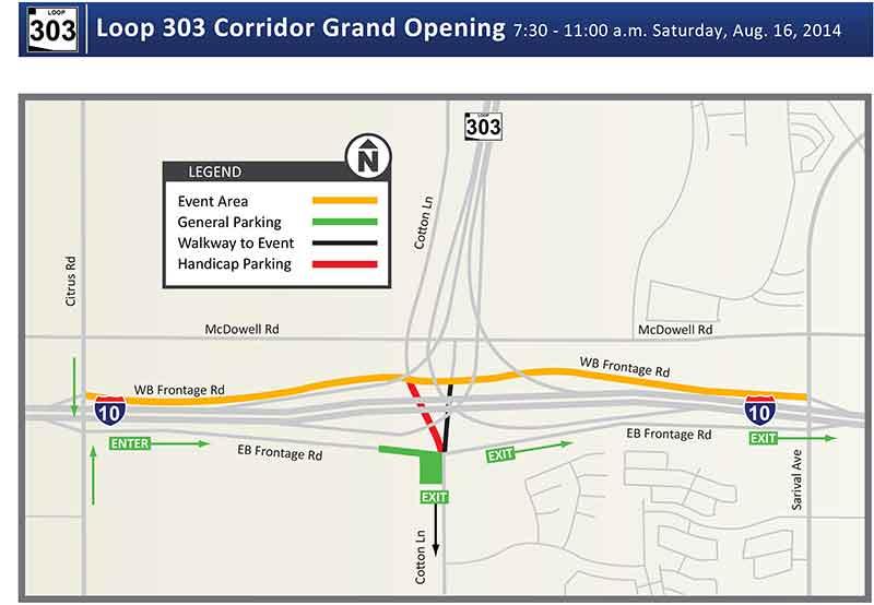 New Loop 303 / I-10 interchange