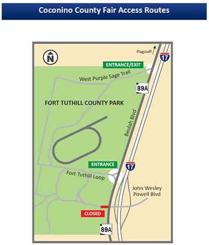 Cocoino County Fair Access Routes