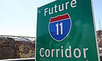 Future I-11 Corridor sign