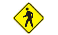 Pedestrian road sign