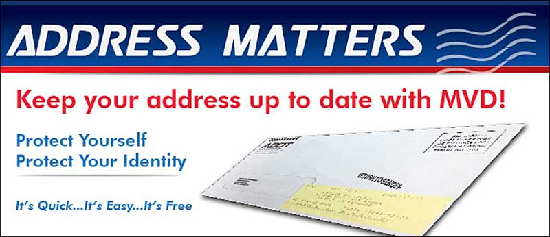 Address matters: Keep your address up to date with MVD