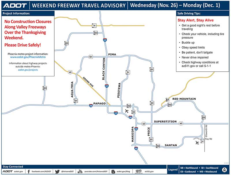 Holiday road closure map