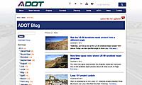 Screenshot - ADOT blog homepage