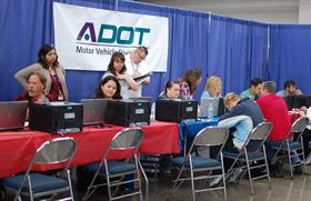 ADOT employees working at the StandDown Event