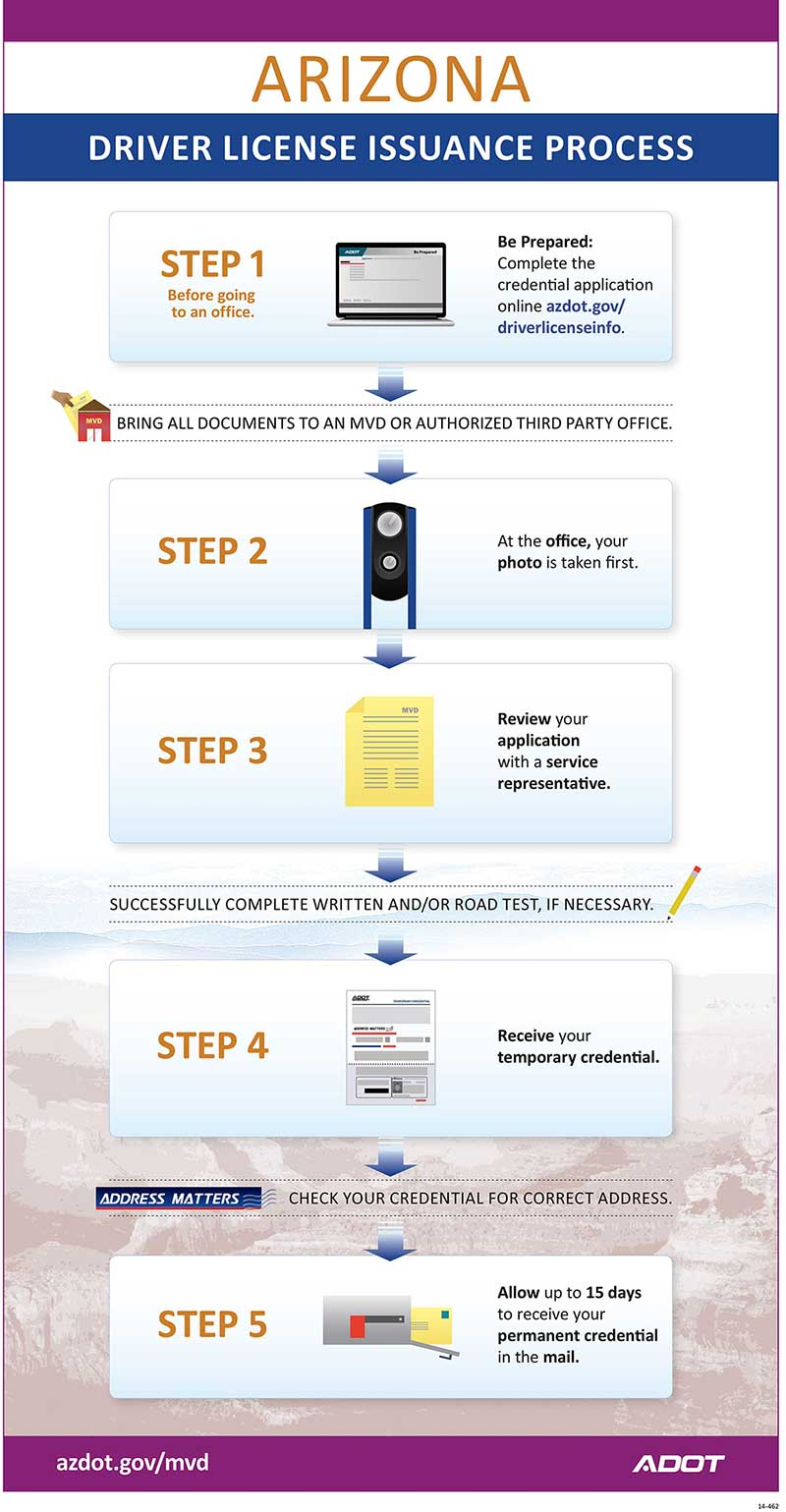 Driver License Issuance Process Infographic