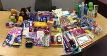 donated toys and treats for the ADOT Holiday Stockings program