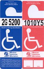 Permanent disability placard examples