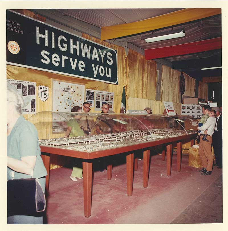 Highway Department display at 1970 State Fair