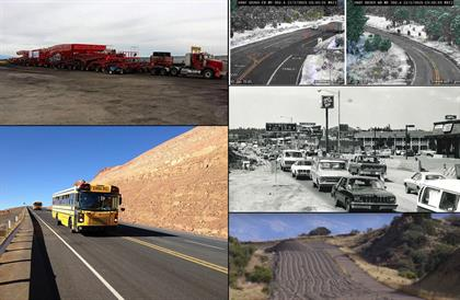 Collage of transportation photos
