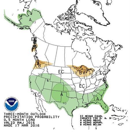 North America Precipitation Probability Map
