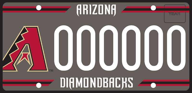 New Diamondbacks license plate
