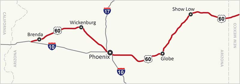 US 60 Map