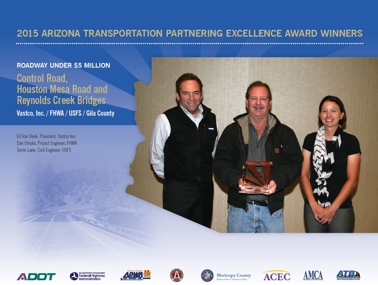Arizona Transportation Partnering Excellence Award Winners