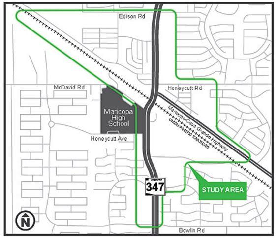 SR 347 rail overpass map